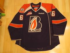 Tyler Bell Kamloops Blazers 11-12 Game worn jersey