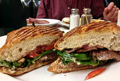 photo - Steak BLT Panini, Jim's Coffee Shop