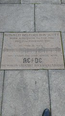 Photo of Bon Scott stone plaque