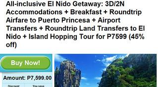 3D/2N El Nido Getaway Promo