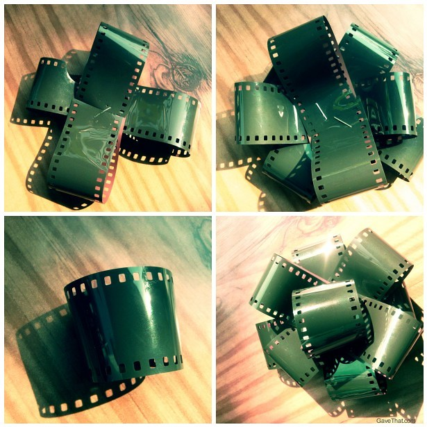 DIY Camera Film Gift Bows step by step tutorial