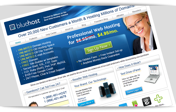 Bluehost Web Hosting Discount
