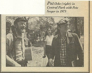 1975 Phil Ochs-Pete Seeger, Central Park, NYC (Chuck Pulin)