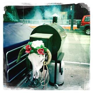 #Streetfood Truck-mounted #smoker