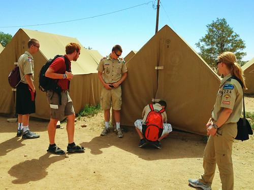 Platform tents in base camp
