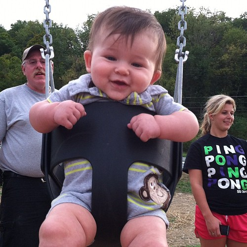 Just a swingin' . #cord #baby #swing #swinging #instagood #enjoyinhthesmallthings