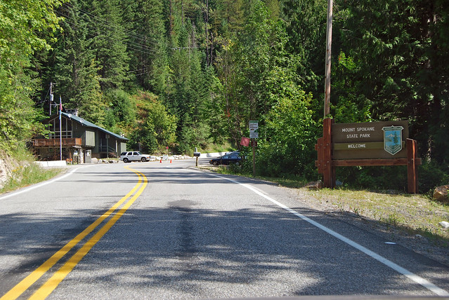 SR 206 at Mt Spokane State Park