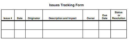 issues tracking form