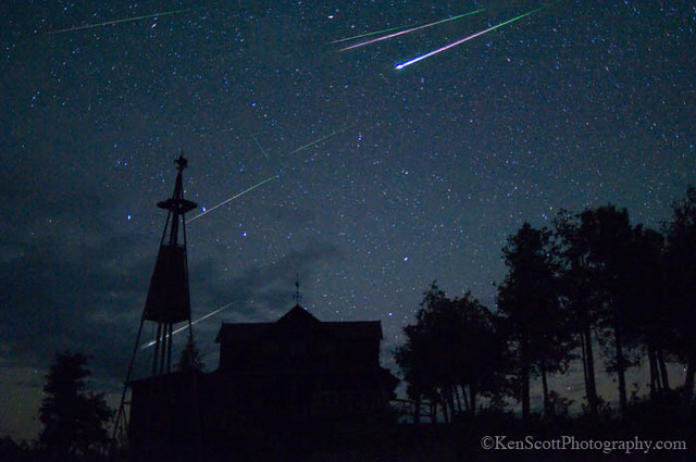 Perseid Meteors ... over Cathead Point
