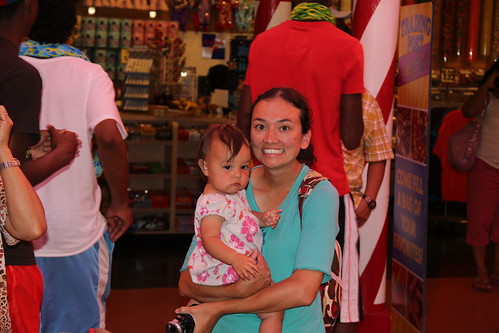 Jovie and Momma in the Adventuredome