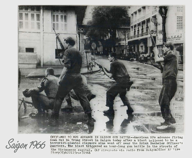 SAIGON 1966 -  MPs in Action on Hai Ba Trung Street in Saigon