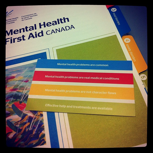 Some of our staff are taking Mental Health First Aid today