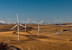 [Free Images] Architecture, Windmill, Wind Power, Power Plants, Landscape - United States of America ID:201302061200