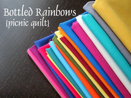 Bottled Rainbows Picnic Quilt