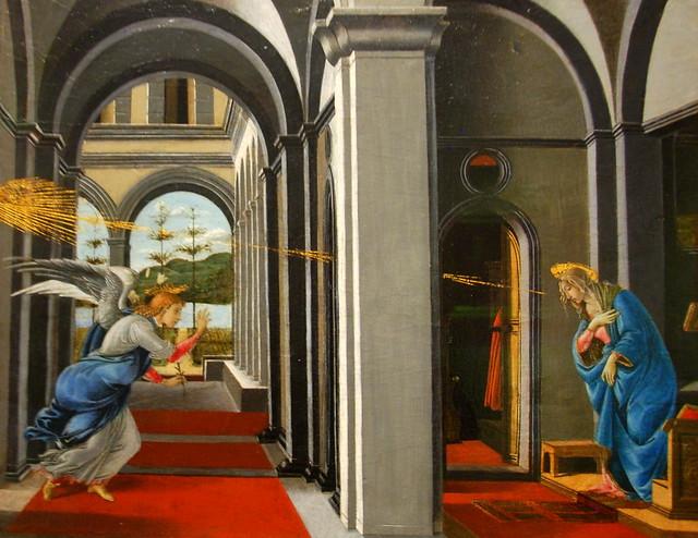 The Annunciation, Botticelli, 1493