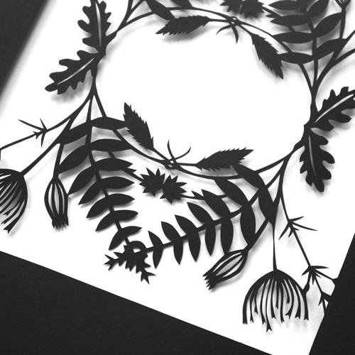 Mr Yen Botanical Papercut Detail