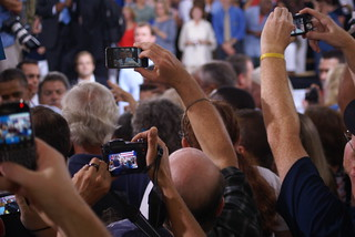 Camera's taking photos of President Barack Obama