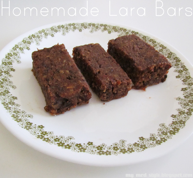 RECIPE Homemade Lara Bars