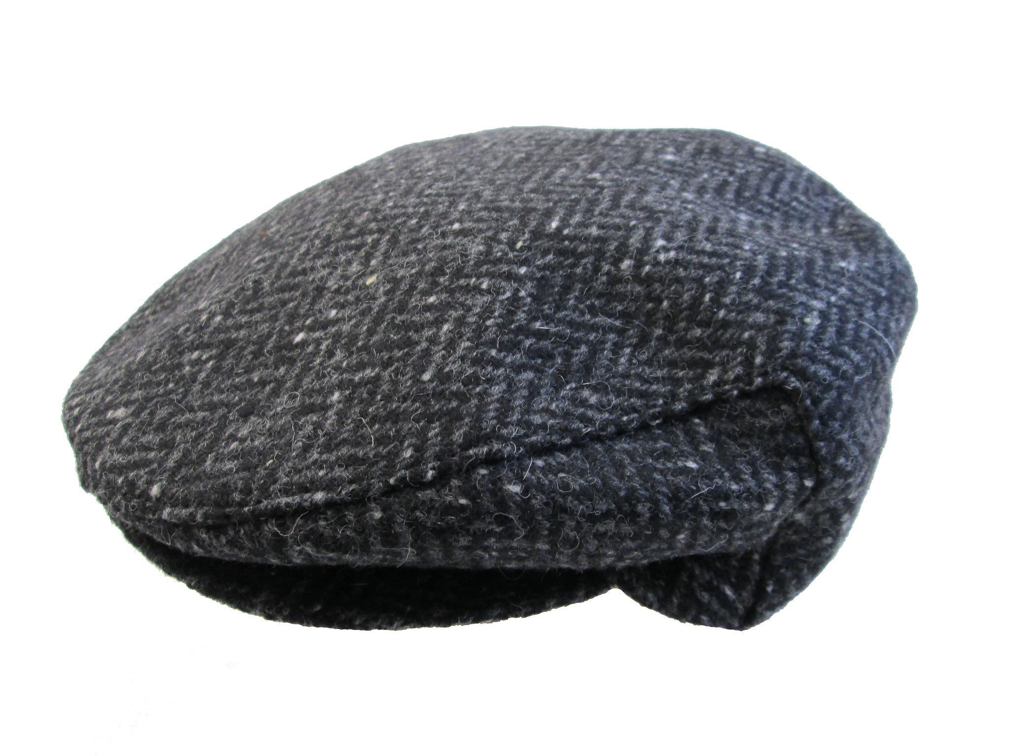 34fc2da9c68 John Hanly Irish Hat Charcoal Fleck 100% Wool Made in Ireland Medium SKU   TC D20 Medium