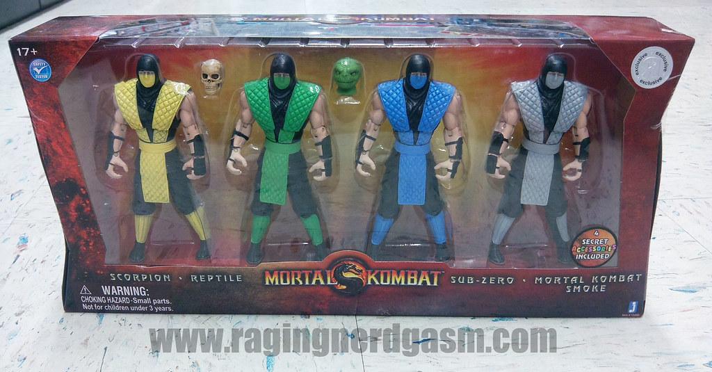 Mortal Kombat Action Figures - Scorpion Reptile Sub-Zero Mortal Kombat SmokeJazwares08