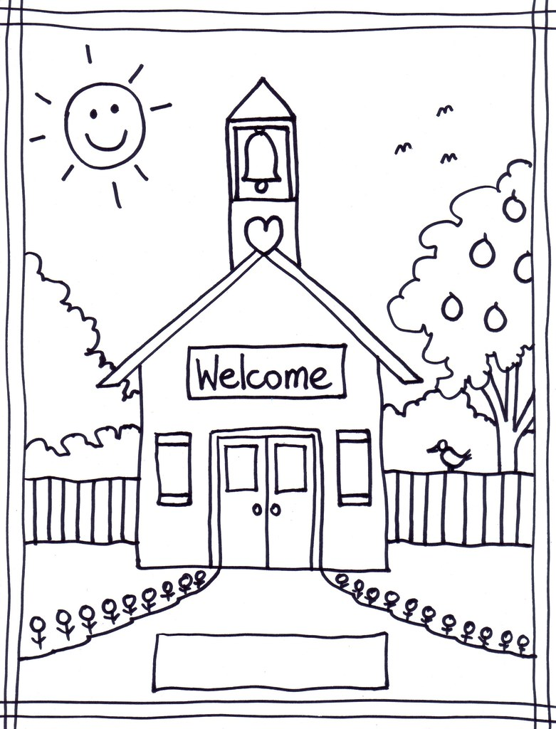 school room coloring pages - photo#1