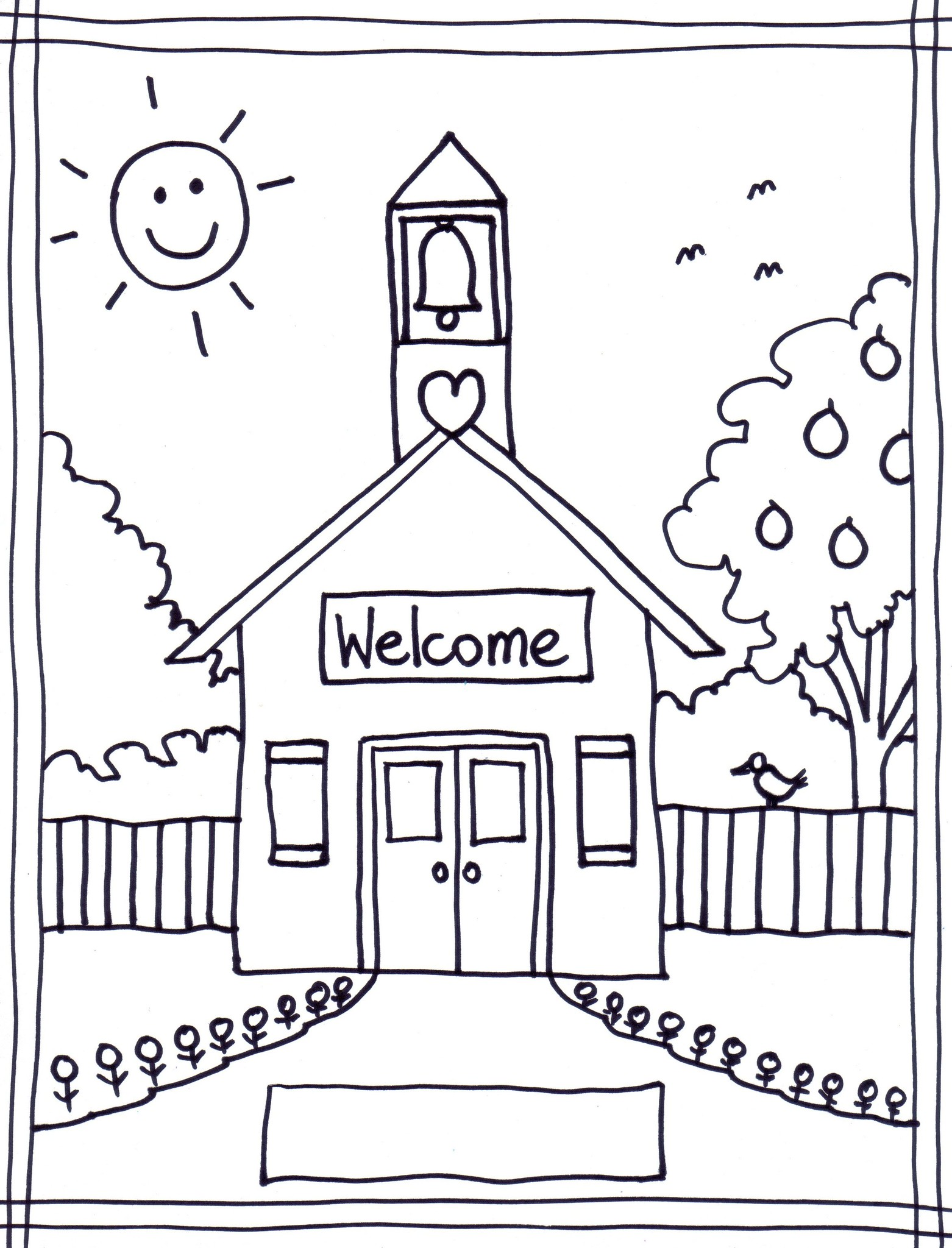 school open house coloring pages - photo#4