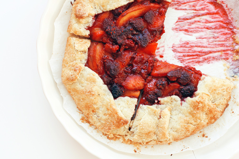 Peach & Raspberry Crostata