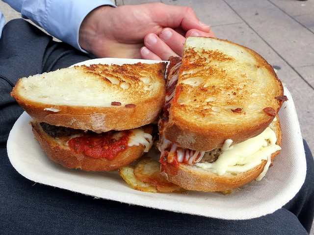 Mom's Meatloaf grilled cheese sandwich