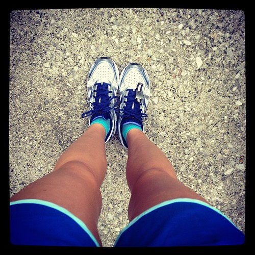 Busting out a brand new pair of @mizunorunning wave inspires this morning. #brilliantrun