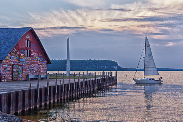 Sailboat and Anderson Dock