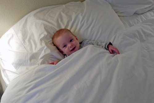 Helping Mommy Make the Bed