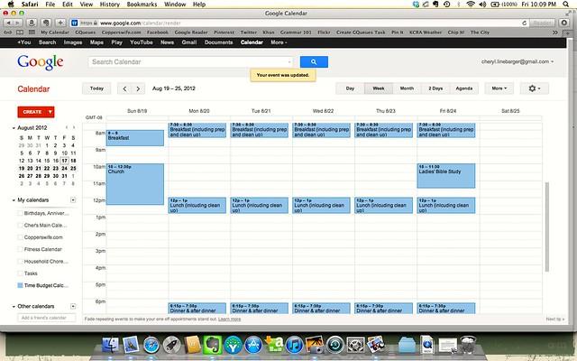 Google Calendar Screen Shot #4