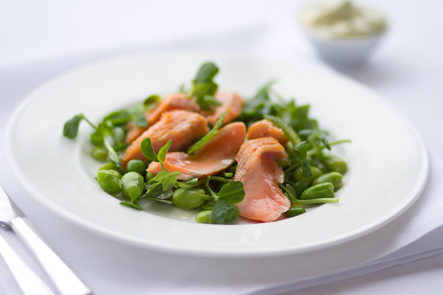 Salmon salad © Royal Opera House Restaurants 2012