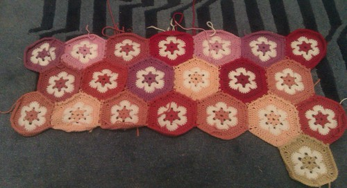 More Hexagons by RooKnits