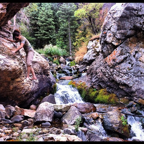 Discovering a secret little canyon with my climbing/hiking friend. It's so beautiful but isn't it too early for fall colors?