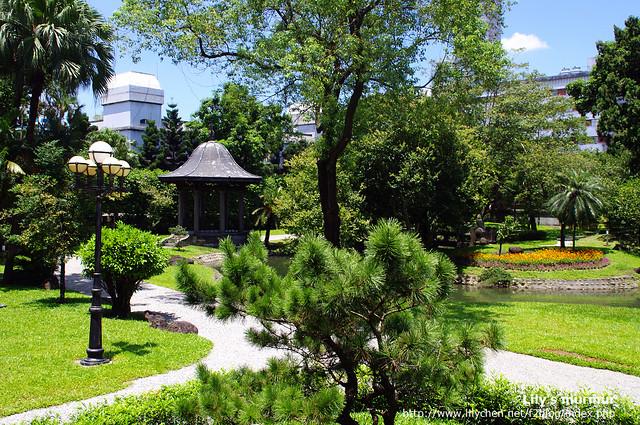 後院的日式庭園,很難想像這就在台北的市中心。