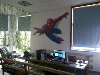 3D wall sticker, spider-man