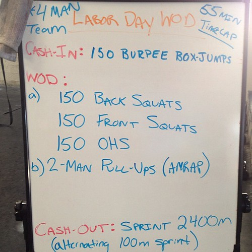 Some crazy lady came up with this torturous event. We finished though!! #wod #crossfit