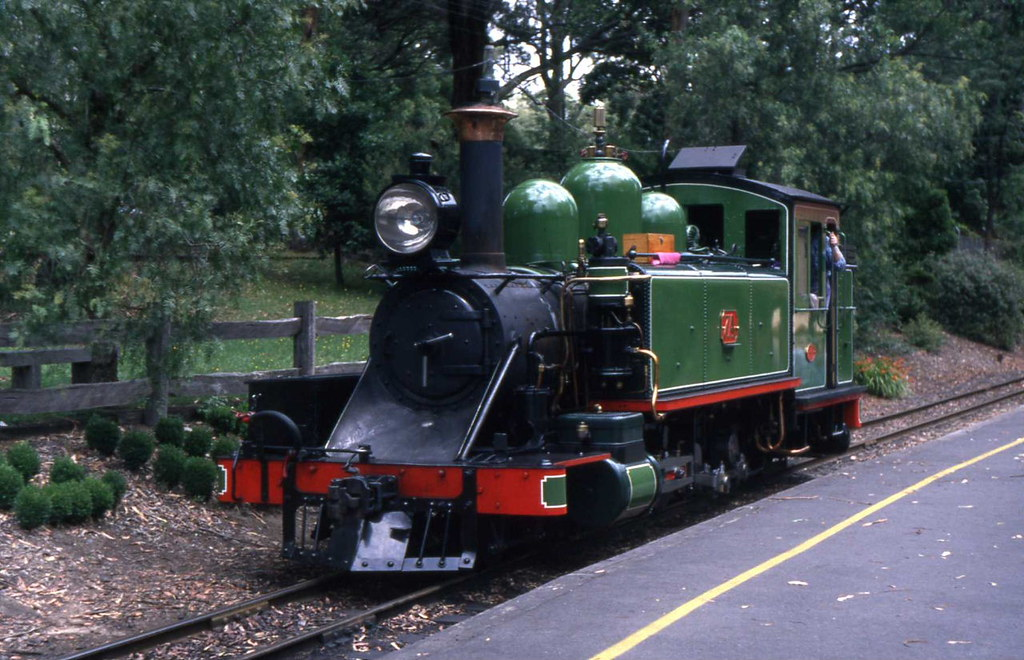 Puffing Billy 7A Belgrave 30.01.1998 by Andy Cole