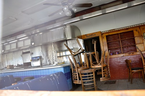 Interior of Closed Diner