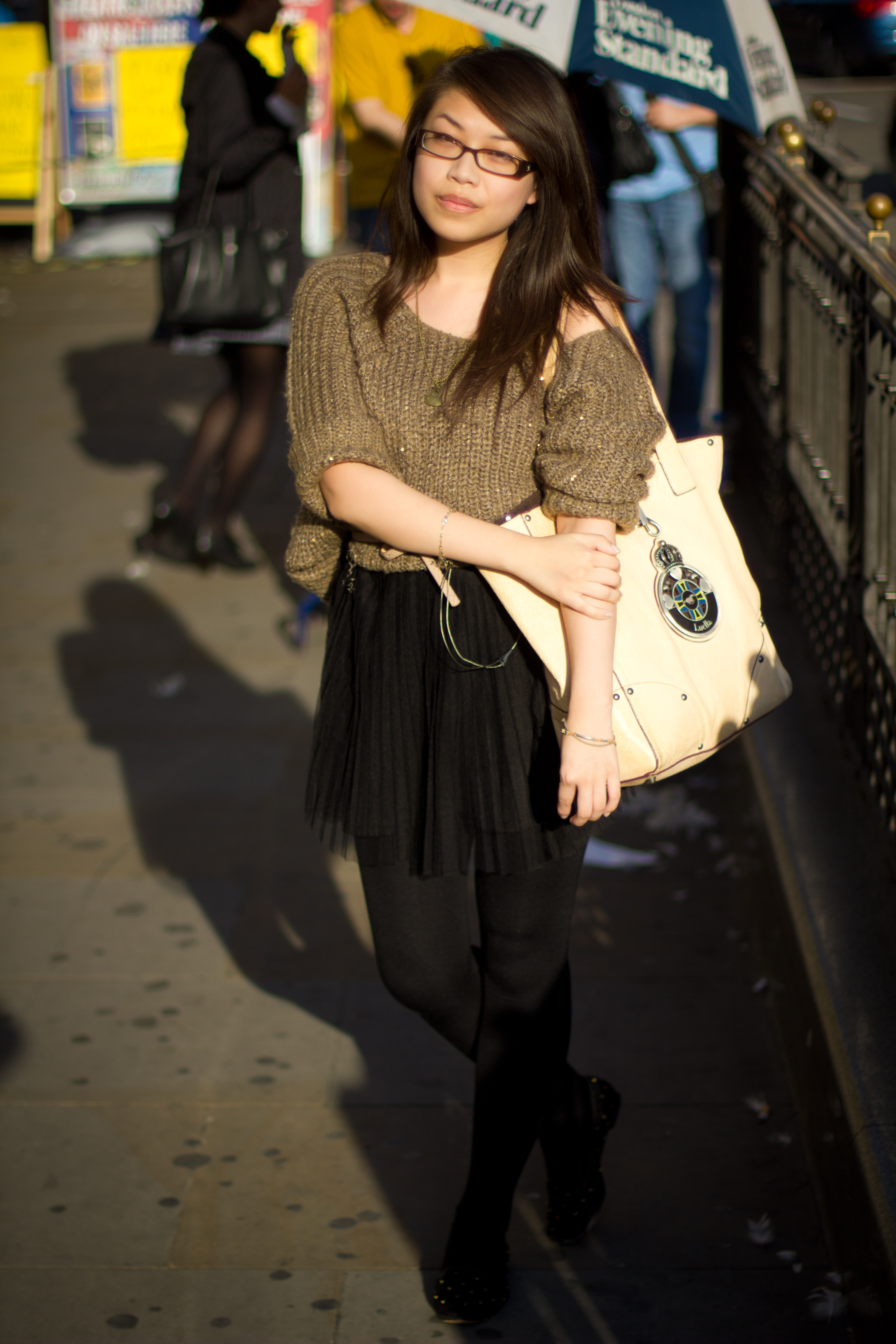 daisybutter - UK Style and Fashion Blog: what i wore, street style, london, wiwt, AW12, luella, tutu, piccadilly circus, 365strangers