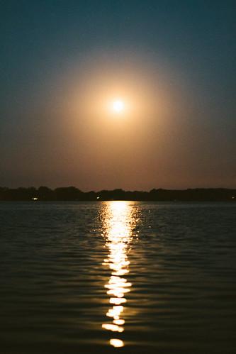 light moon lake water minnesota night cabin unitedstates watkins bluemoon