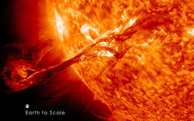 Erupción Solar Agosto 2012