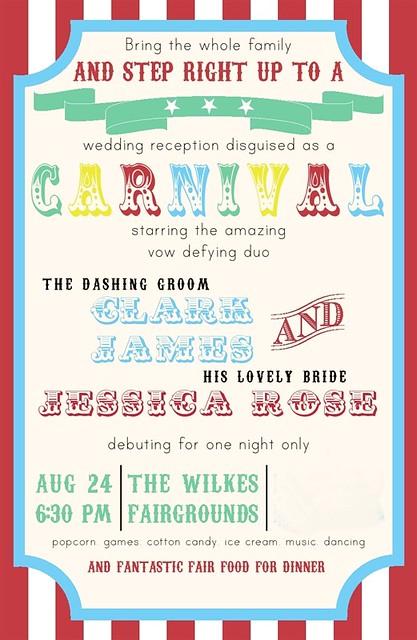 Wedding Carnival Invite