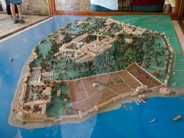 Model of the whole palace area