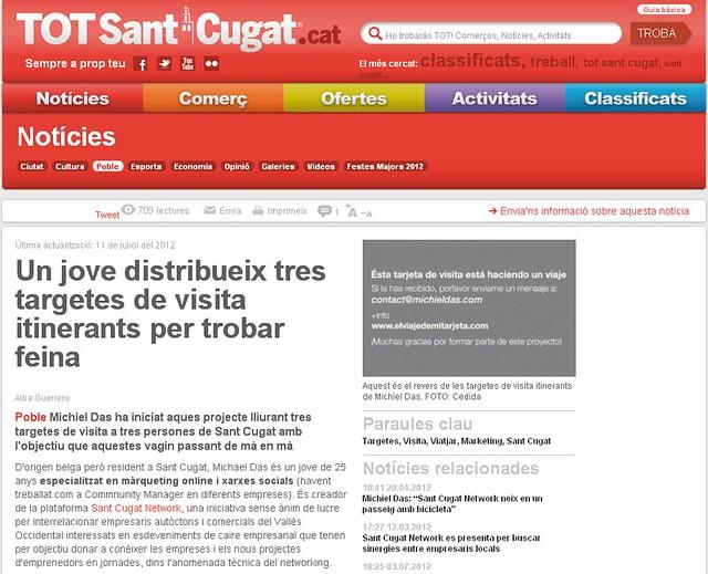 Noticia en Tot Sant Cugat - Tot Sant Cugat (10.07.2012) - catalán