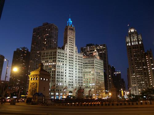 Wrigley Building At Night