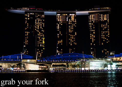 marina bay sands by night singapore