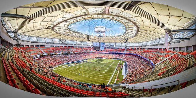 CFL Football: BC Place Stadium