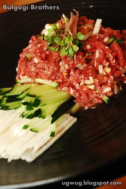 Yukhoe - Raw Beef